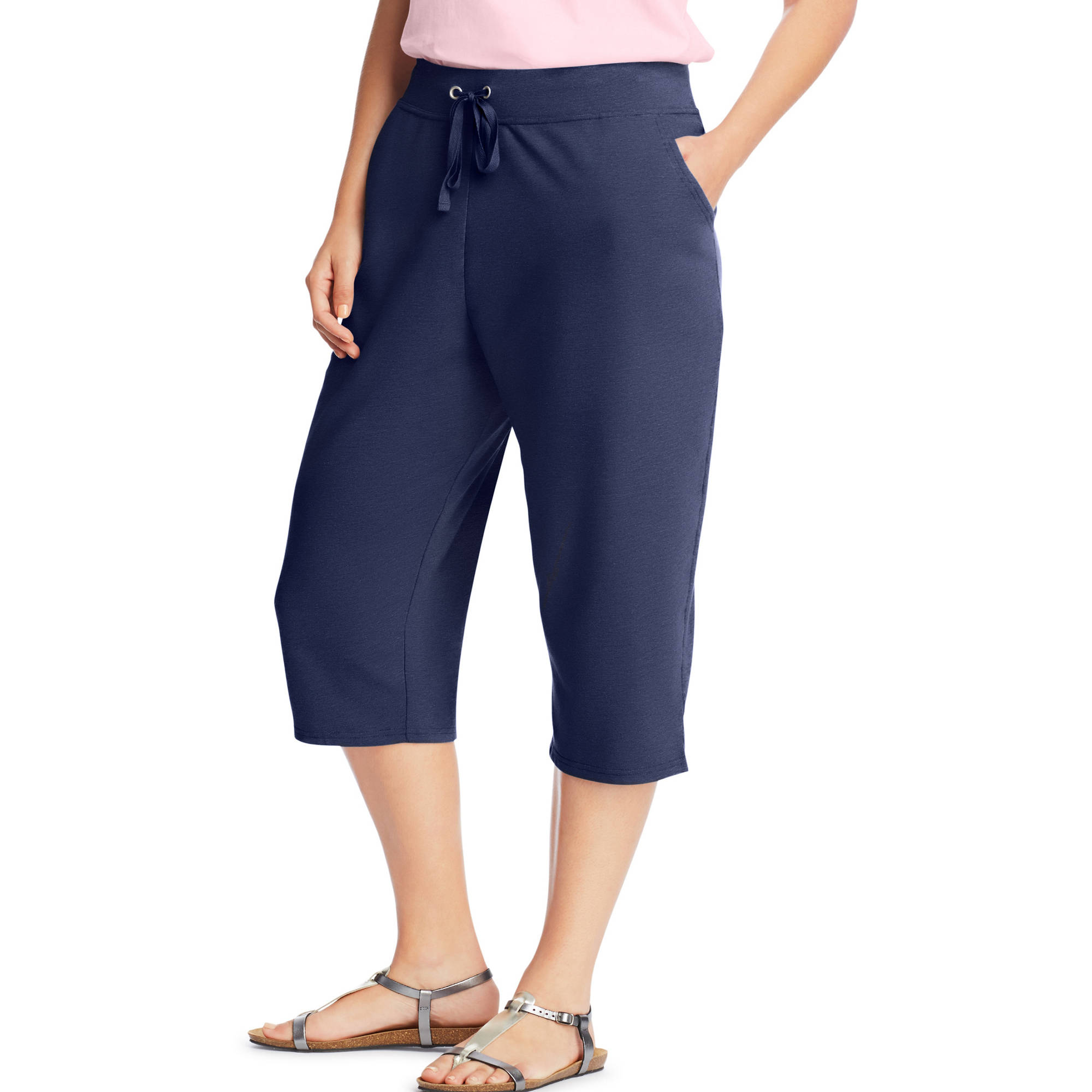 Just My Size Women's Plus-Size French Terry Pocket Capri