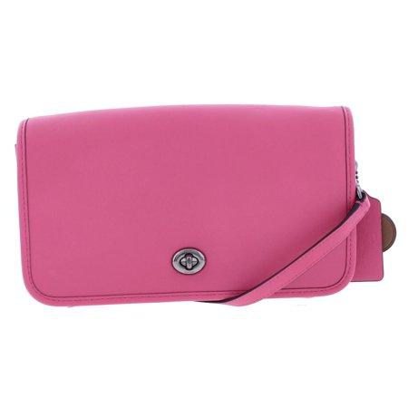 Coach Womens Dahlia Leather East West Crossbody Handbag