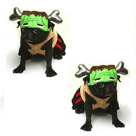 Barkenstein Dog Frankenstein Costumes - Halloween Green Monster Dogs Apparel (Size 0)