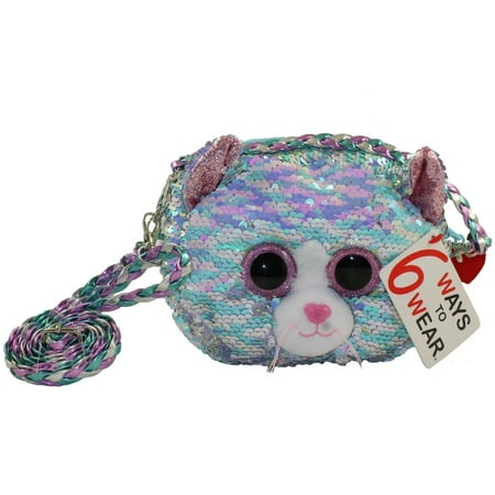 TY Fashion Flippy Sequin Purse - WHIMSY the Cat (8