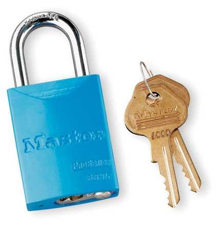 """Lockout Padlock,KD,Blue,1-7/8""""H MASTER LOCK 6835BLU"""