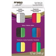 Premo Sculpey Polymer Clay Multipack 1oz 12/Pkg-Mixed Effects