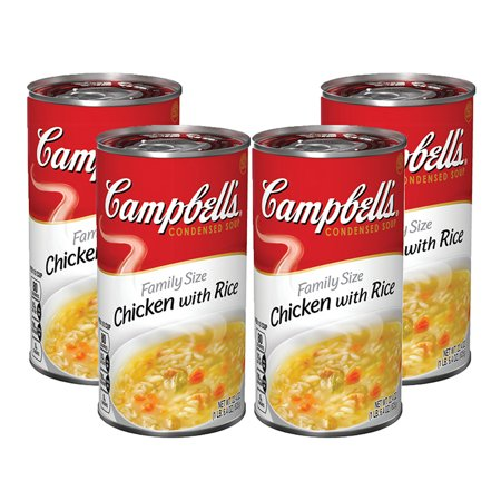 (3 Pack) Campbell's Condensed Family Size Chicken with Rice Soup, 22.4 oz.