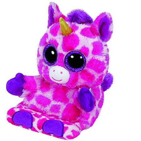 A Stuffed Animal (Ty Peek A Boos Uni the Pink Unicorn Phone Holder Screen Cleaner Plush Stuffed Animal Toy)