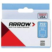 "ARROW P22 Staples, #225 5/16"" (8mm), 5000 per box"