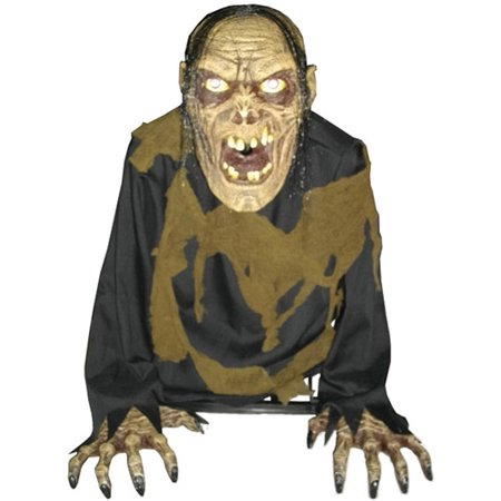 2' Tall Bilious Zombie Animated Fog Halloween Prop - Zombie Animated