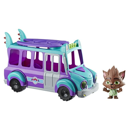Monster High Band Dress Up (Netflix Super Monsters GrrBus Monster Bus Toy with Lights, Sounds, and Music Ages 3 and)