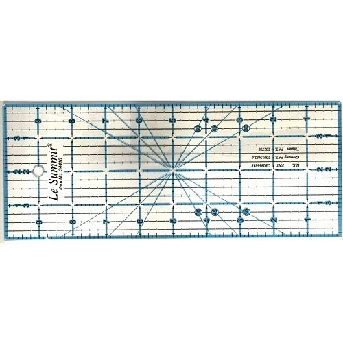 Le Summit Patchwork And Quilting Ruler Clear Acrylic 6 inch x 1 inch