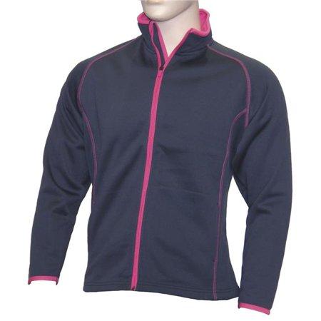 Weather Apparel 58023-289-LG Microfiber Womens Jacket, Large - True Navy, Pink & Light Gray