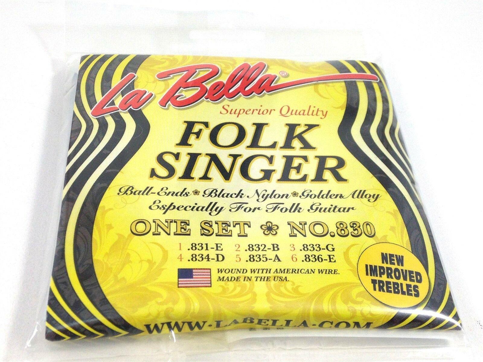 la bella guitar strings folk singer 830 ball end nylon for folk guitars. Black Bedroom Furniture Sets. Home Design Ideas