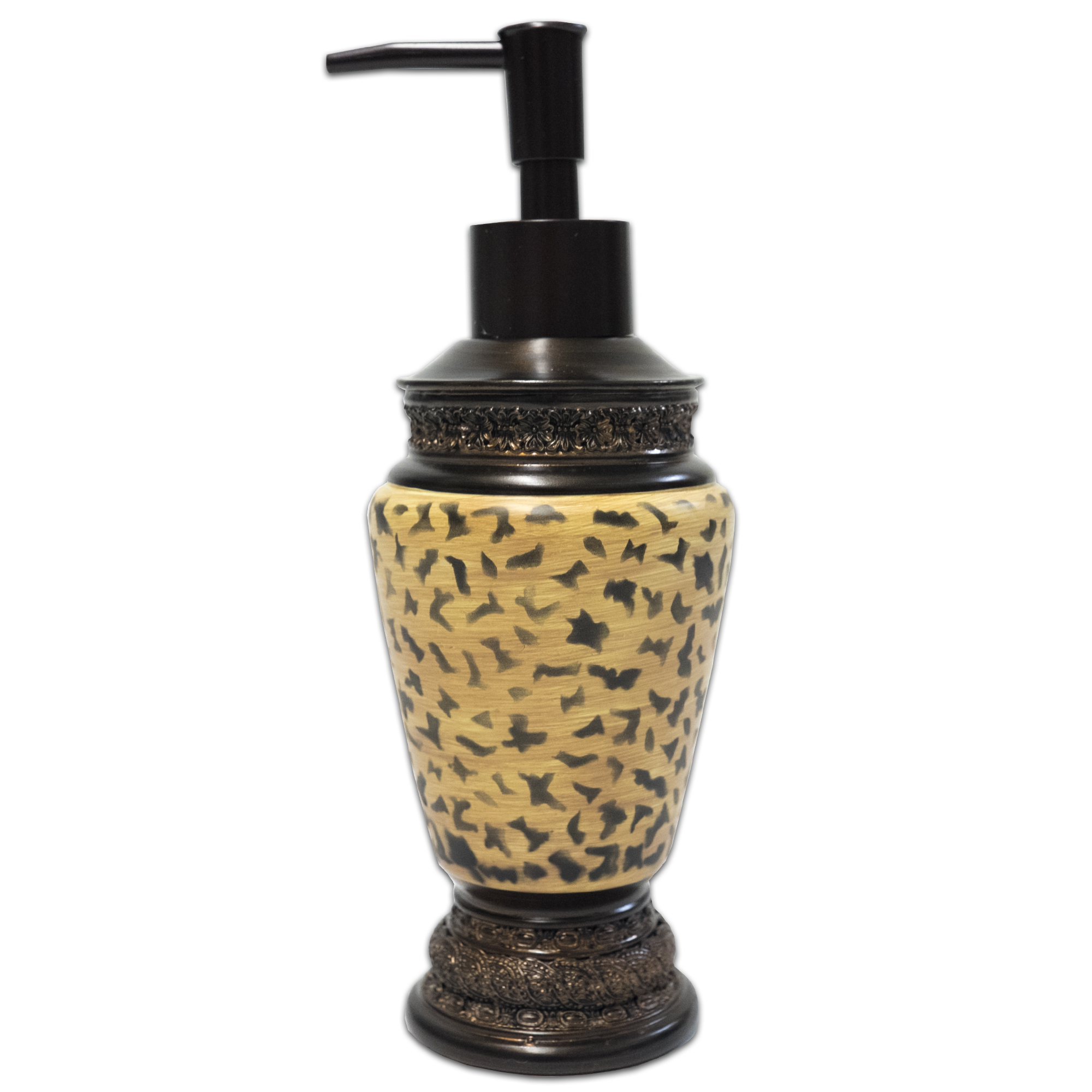 Popular Bath Wild Life Bathroom Resin Lotion Soap Dispenser