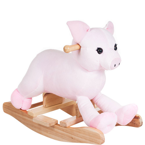 Happy Trails Plush Rocking Hamlet Pig