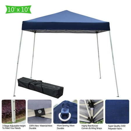 Ktaxon EZ POP UP 10' X 10'  Anti UV Patio Tent Folding Gazebo Backyard Canopy Sun Shade