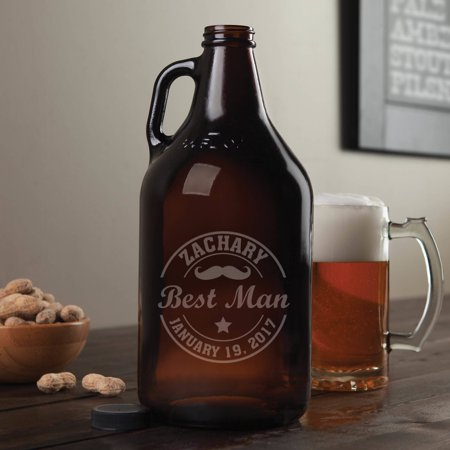 Wedding Party Personalized Beer Growler - Groomsmen Gifts (Wedding Gifts For Groomsmen)