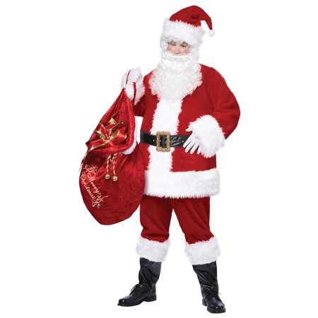 Deluxe Velvet Santa Costume - Santa Costumes For Men