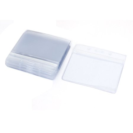 Unique Bargains Plastic Company Work Exhibition Name Tag Position Badge ID Card Holder 10PCS - Plastic Name Badge Holders