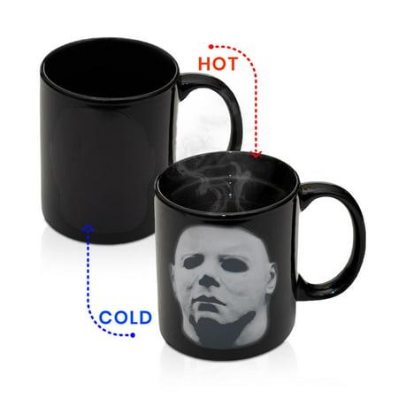 Halloween Themed Coffee Mugs (Michael Myers Halloween Coffee Mug | Heat Changing Coffee Cup | Holds 11)