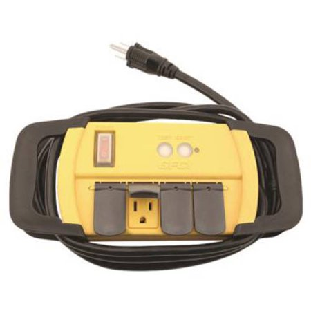 Power All Gfci Power Strip  4 Outlets  125V  6 Cord