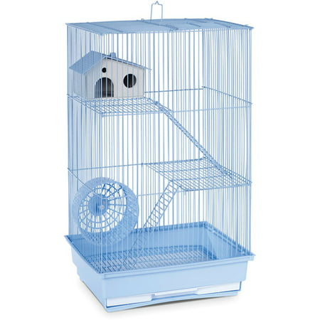 Prevue Pet Products 3-Story Hamster & Gerbil Cage, Light (Best Cage For Teddy Bear Hamster)