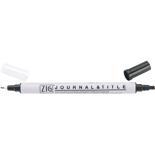 Zig MS3600-010 Zig Memory System Journal and Title Dual-Tip Marker-Pure Black - Pack of 6