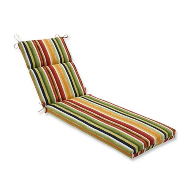 Indoor-Outdoor Dina Noir Chaise Lounge Cushion, Multicolored