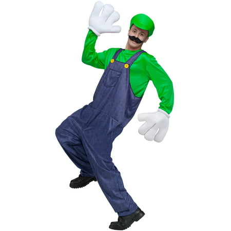 Video Game Guy Adult Costume (Green) - Best Guy Costume