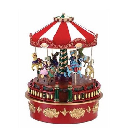 mr christmas musical carnival carousel miniature holiday decoration 19704 - Christmas Carousel Decoration