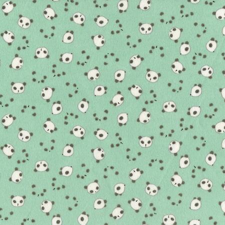 Dear Stella Wide Awake Flannel Mint Panda Heads