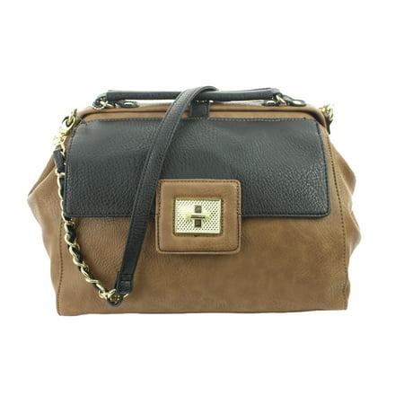 Shoulder Frame Bag (Olivia & Joy Black-Taupe Adorno Frame Satchel OSFA)