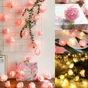 20/10/5ft Rose Flower Fairy LED String Light Party Garland Valentine's Day Propose Decor Wedding Decoration Battery Operated