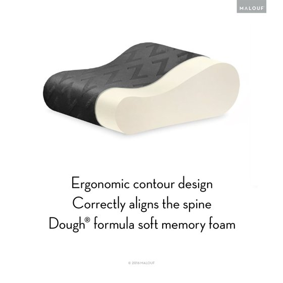 Malouf Z Travel Memory Foam Molded Contour Neck Pillow