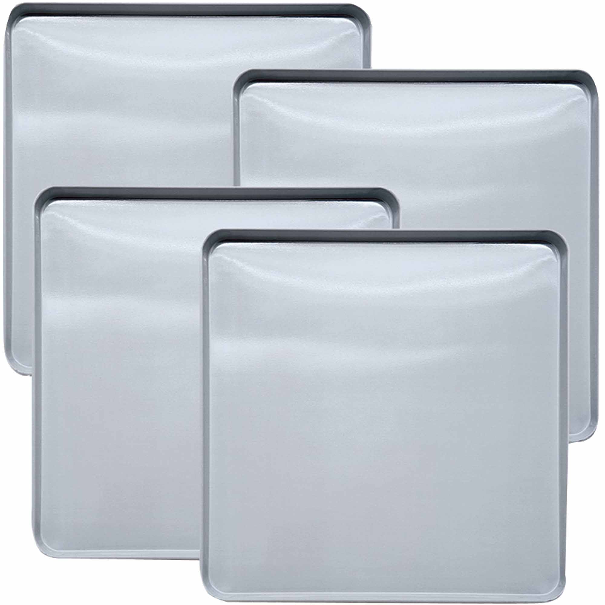 Range Kleen Square Stainless Steel Burner Kovers, 4pk
