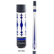 Stryker B31260 Pool Cue Stick Wht w/ Linen Wrap + Quick-Release Joint+ Joint Protectors