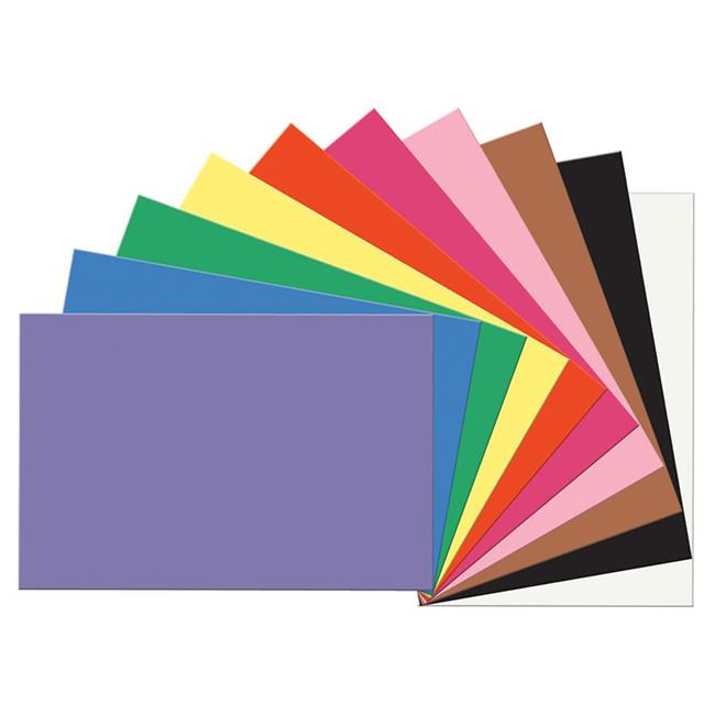 12 x 18 in. Construction Paper, Assorted - Pack of 5