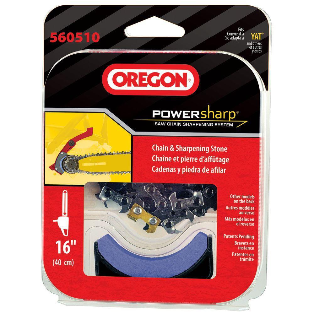 "Oregon PowerNow Replacement PowerSharp 16"" Chainsaw Chain w/ Sharpening Stone"