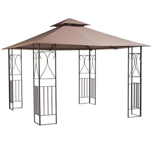 Sunjoy Group Intl Pte L-GZ812PST-B Cross Aim Gazebo With Canopy, 10 x 10-Ft. by SUNJOY GROUP INTL PTE LTD