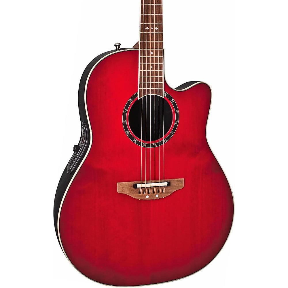 Ovation Standard Balladeer AX Contour AE Acoustic Electric Guitar (Cherry Cherry Burst)