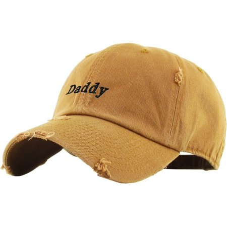 Daddy Dad Hat Vintage Distressed Cotton Adjustable Baseball Cap