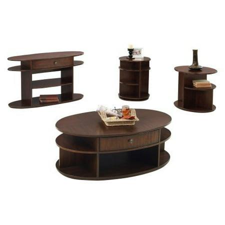 Progressive Furniture Sofa/Console Table - Dark Cherry and Birch