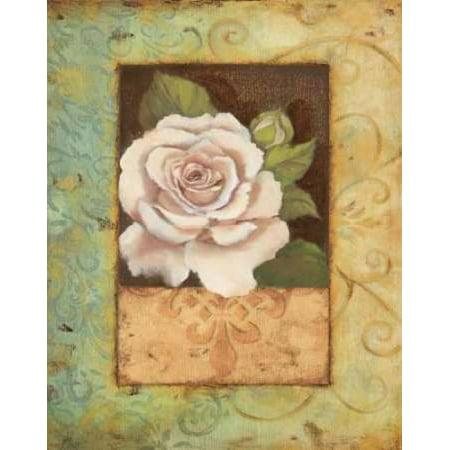 Antique Rose I Poster Print by Jillian Jeffrey (Jillian Jeffrey Antique)