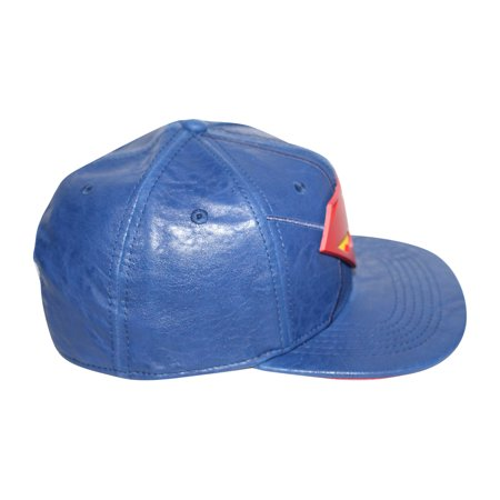 Bioworld Blue Licensed Superman PU Leather Snapback Hat - image 2 de 5