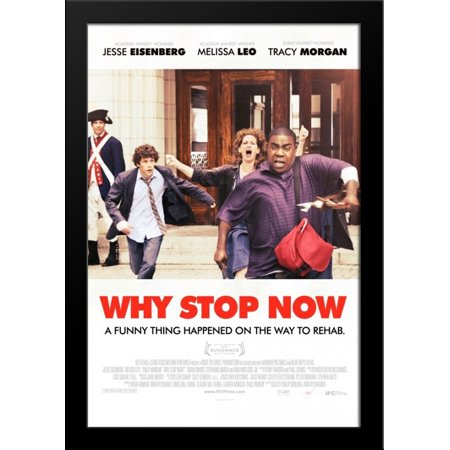 Why Stop Now 28x36 Large Black Wood Framed Movie Poster Art Print