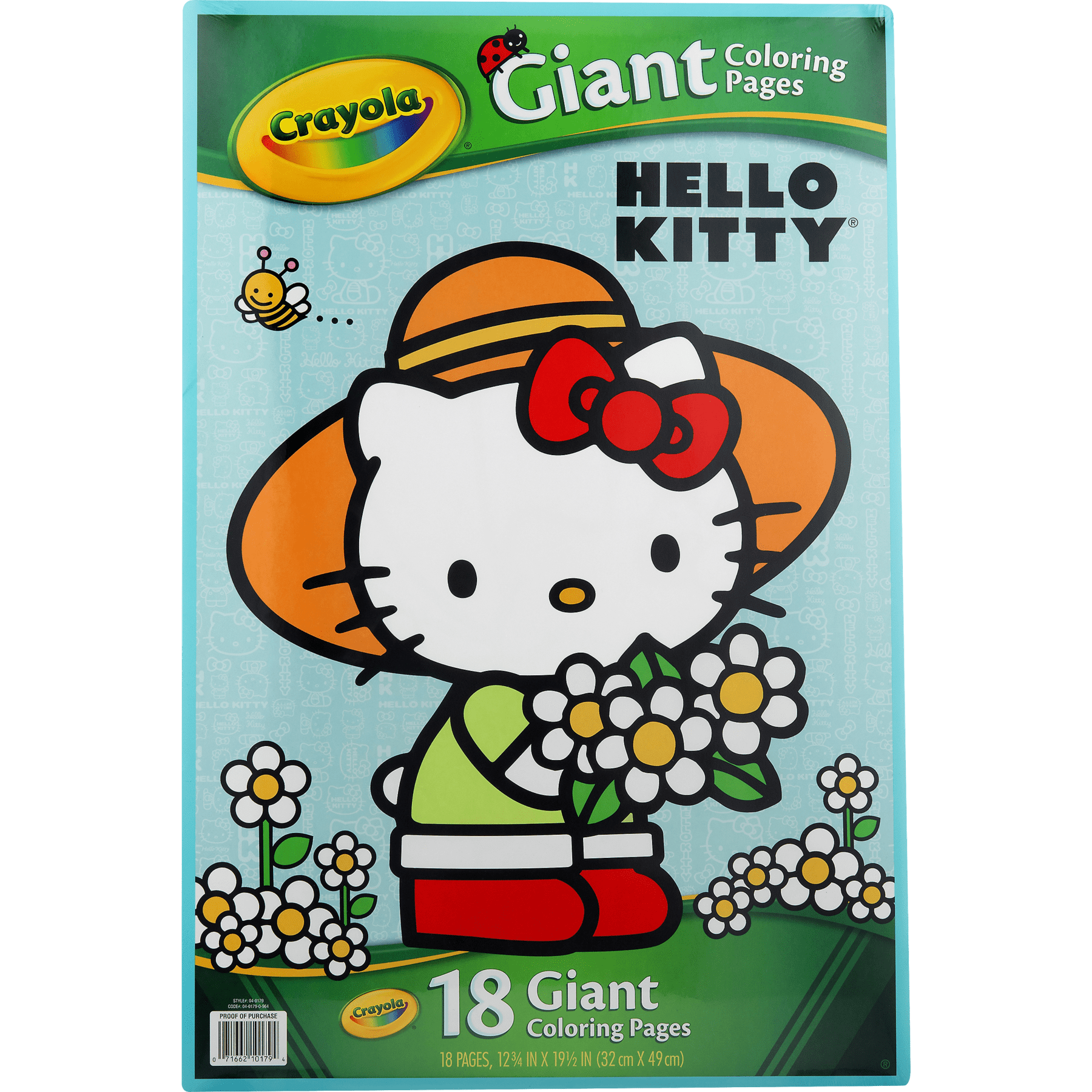 Crayola giant coloring pages featuring hello kitty 18 count walmart com