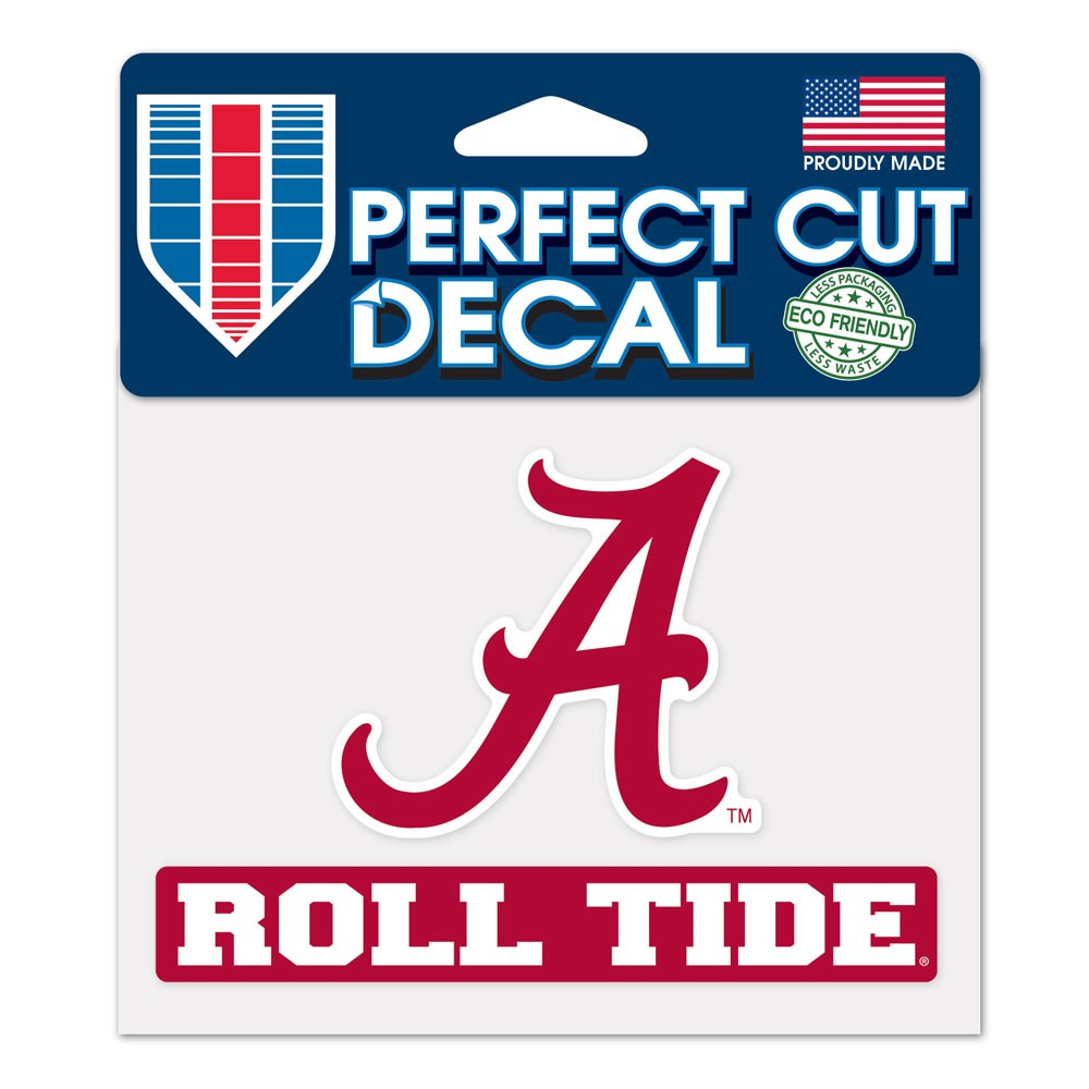 Alabama Crimson Tide Official NCAA 4 inch x 5 inch Die Cut Car Decal by Wincraft by Wincraft