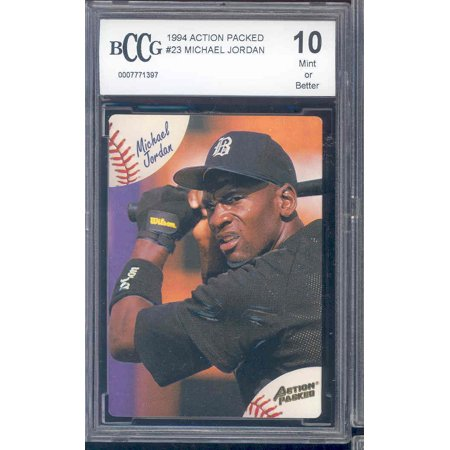 1994 action packed #23 MICHAEL JORDAN baseball rookie BGS BCCG -