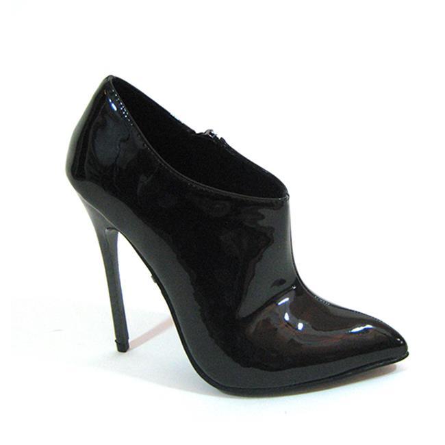 Highest Heel FIERCE-91-SC-BPAT-10 4.50 in. Carbon Fiber Heel Design Sexy Ankle Bootie, Black Patent - Size 10 - image 1 of 1