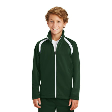 Sport-Tek Youth Tricot Track Jacket (Youth North Face Ski Jacket)