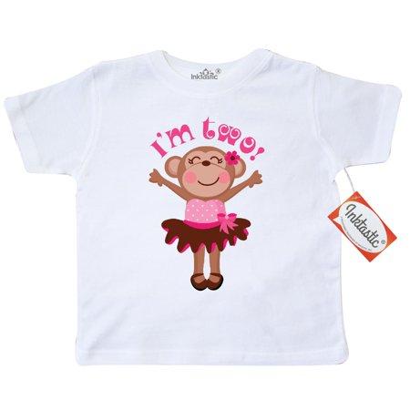 Monkey 2nd Birthday Gift For Girl Toddler - Christmas Gifts 8 Yr Old Girl