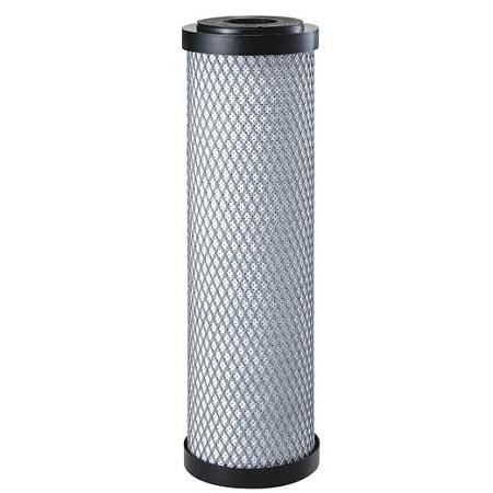 "Aqualine (20AM-251005) 9.75""x2.75"" ""AquaPro"" Ammonia Reduction Carbon Block 5 Micron Filter"