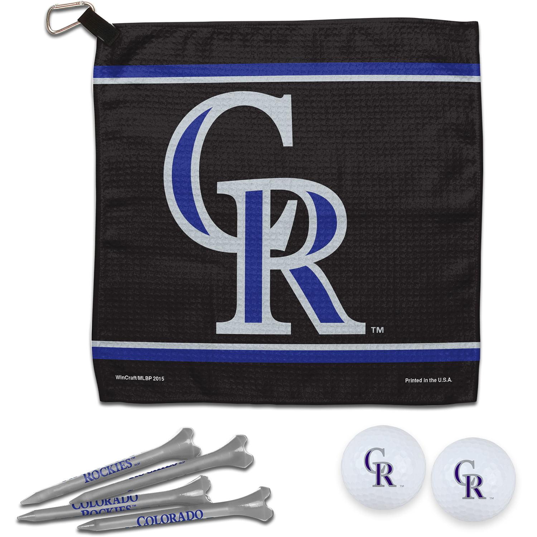 Colorado Rockies WinCraft Towel, Golf Balls & Tees Gift Set - No Size